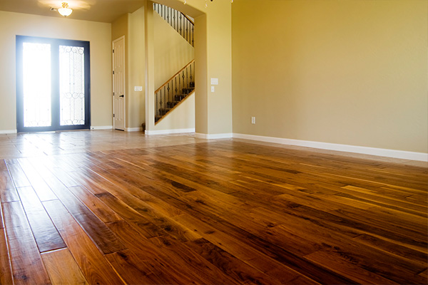 An image showing a hallway with new hardwood flooring